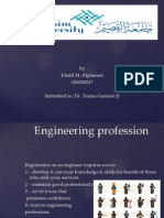 Engineering Profession and Ethics
