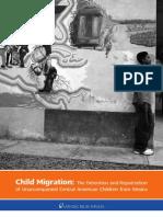 Niñez migrante - Detención y repatriación desde México de niños, niñas y adolescentes centroamericanos no acompañados