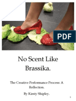 Performance Reflection  No Scent like Brassika (2012) A Solo Performance by Kirsty Shipley