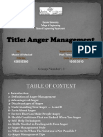 Report in Anger Management