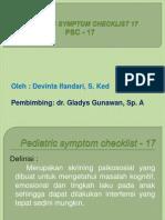 pedriatric sym checklist