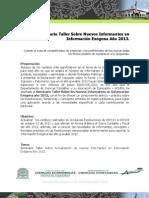 Seminario Taller Sobre Nuevos Informantes en Información Exógena Año 2013.