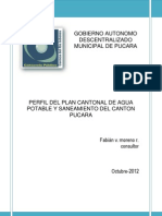 Plan municipal de agua de Pucará