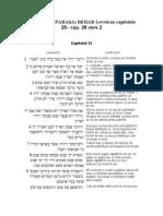 32.PERICOPA (PARAŞA) BEHAR Leveticus capitolele 25– cap. 26 vers 2