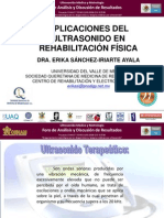 Aplicaciones del Ultrasonido en Rehabilitacion Fisica (Dra Erika Sanchez-UVM)