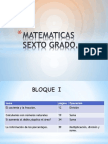 matematicas sexto grado