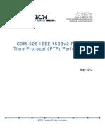 CDM-625 IEEE 1588v2 Precision Time Protocol Performance