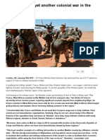 Mali Invasion – yet another colonial war in the Muslim world!