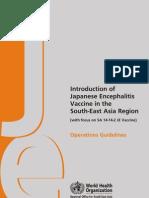 Japanese Encephalitis Guideline SEARO 2006