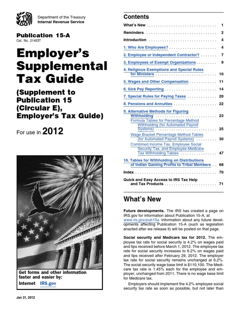 IRS Publication 15a   Independent Contractor   Employment