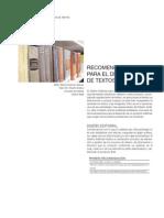 Recomendaciones para el Diseño Editorial