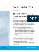 WHO ARE THE PARTIES IN IV-D CHILD SUPPORT PROCEEDINGS AND WHAT DIFFERENCE DOES IT MAKE?