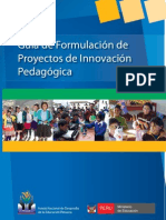 guia de formulaciòn de proyectos de innovacion pedagogica