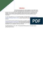 IRS Publication Form w-2 v2011