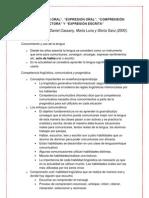 Habilidades lingüísticas (Daniel Cassany, Marta Luna y Gloria Sanz (2000)).