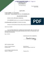 Fraley v. Facebook—Reassignment Order 2011.04.14