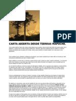 Carta Abierta Desde Tierras Mapuche