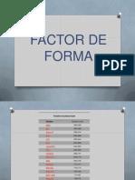 Factor forma placa base