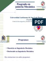 Promoción al Posgrado enIngeniería Mecánica UASLP