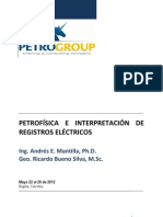 PETROFÍSICA E INTERPRETACIÓN DE REGISTROS ELÉCTRICOS