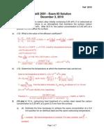 Exam 3 Material Science MATS 2001 UMN Fall 2012