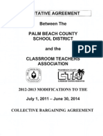 2012-2013 Modifications to the July 1, 2011 - June 30, 2014 Collective Bargaining Agreement