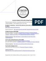 Pedagogy Journals