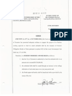 Scranton - October Debt Issue Order