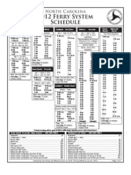 NC ferry schedule