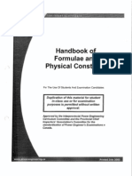 Formulae and Physical Constants Handbook