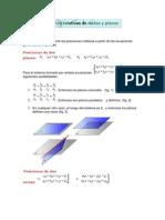 ecuacon de la recta