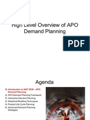 High Level Overview of APO Demand Planning | Mean Squared