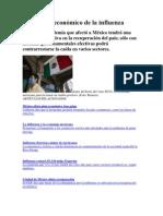 El impacto económico de la influenza en México