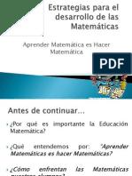 estrategias para el desarrollo de las matemáticas