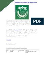 Jamia Millia Islamia Recruitment 2012-2013 Teaching & Non-Teaching Vacancies jmi.ac.in