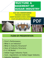 Structure and Management of Indian Sugar Industry