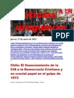Noticias Uruguayas jueves 17 de enero del 201
