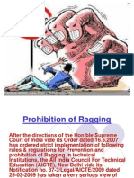 Prohibition of Ragging