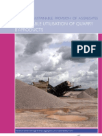 Sustainable utilization of quarry by-products