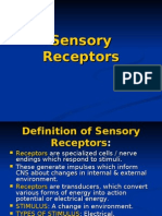 LECT. 3, Sensory Receptors by dr sadia zafar