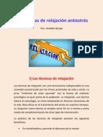 LAS TÉCNICAS DE RELAJACIÓN ANTIESTRÉS