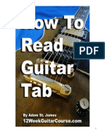 read tab guitar