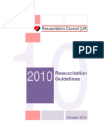 resucitation guidelines of uk