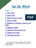 Tablas de Word 2010