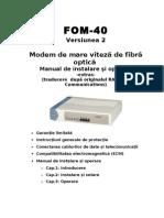 Modem fibra optica FOM40_ro