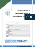Listado de equipos que se emplean en una instalación de frío industrial COOL-SAVE