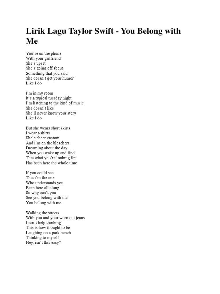 Lirik Lagu Bahasa Inggris