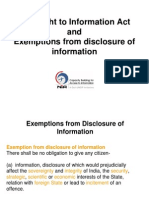 Exemptions from Disclosure of Information