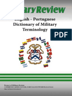 English / Portuguese – Dictionary Of Military Terminology