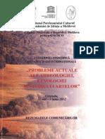 Probleme actuale ale Arheologiei, IPC AŞM 2012